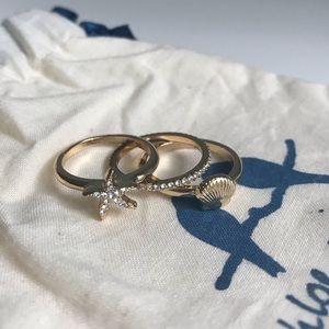 NWT Sur Mer Ring Set 🌟